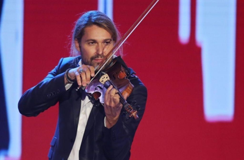 Cooler Typ: David Garrett, hier bei einer TV-Show, hat am Mittwochabend in Stuttgart gespielt. Foto: Getty Images Europe