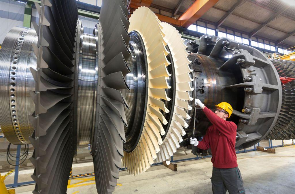 Das Gasturbinen-Geschäft bei Siemens   schwächelt. Es trägt inzwischen deutlich weniger zum  Konzerngewinn als  früher  bei. Foto: Siemens