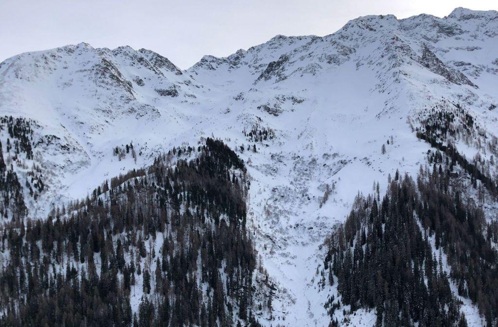Die Lawine ging  im Verwallgebirge bei St. Anton am Arlberg ab, für den 58-Jährigen kam jede Hilfe zu spät. Foto: dpa/Zeitungsfoto.At