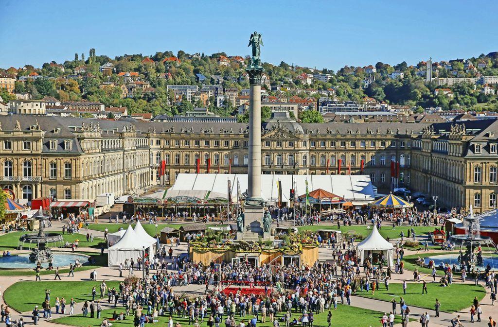 So wurde beim Historischen Volksfest auf dem Schlossplatz gefeiert. Foto: Lichtgut/Leif Piechowski