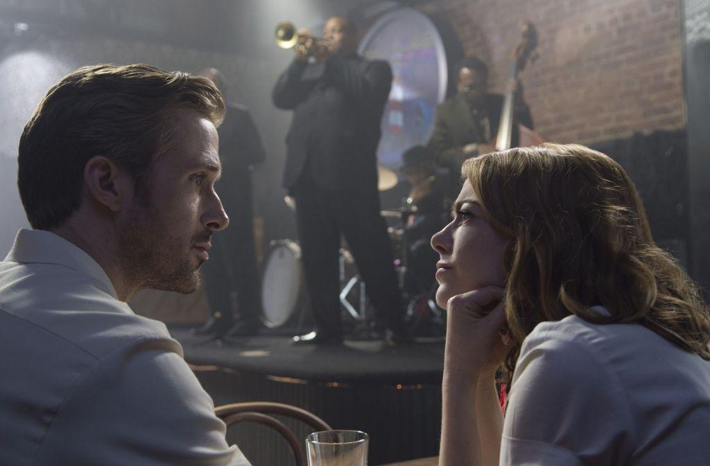 """Im Jazzclub: Emma Stone und Ryan Gosling in """"La La Land"""" Foto: Universal Music Deutschland"""