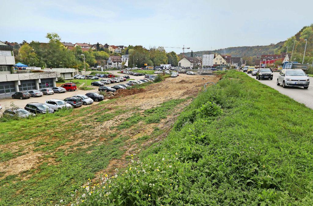 Entlang der Remstalstraße soll das neue Remsecker Rathausals Teil der Neuen Mitte gebaut werden. Foto: factum/Granville