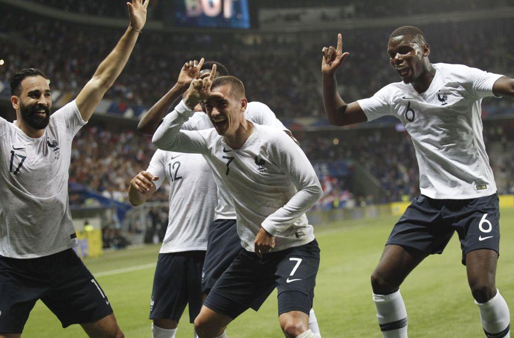 Frankreich ist einer der Titel-Favoriten. Als erstes müssen sie gegen Australien spielen. Foto: AP