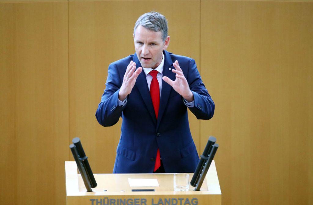 Björn Höcke muss die AfD nicht verlassen. Der Antrag wurde vom AfD-Schiedsgericht abgelehnt. Foto: dpa