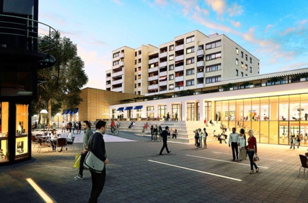 Heller, freundlicher, offener: so stellen sich die Architekten die Zukunft des Marstallcenters in der Ludwigsburger Innenstadt vor. Foto: ECE