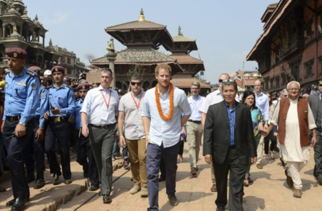 Prinz Harry ist derzeit zu Besuch in Nepal. Foto: AP