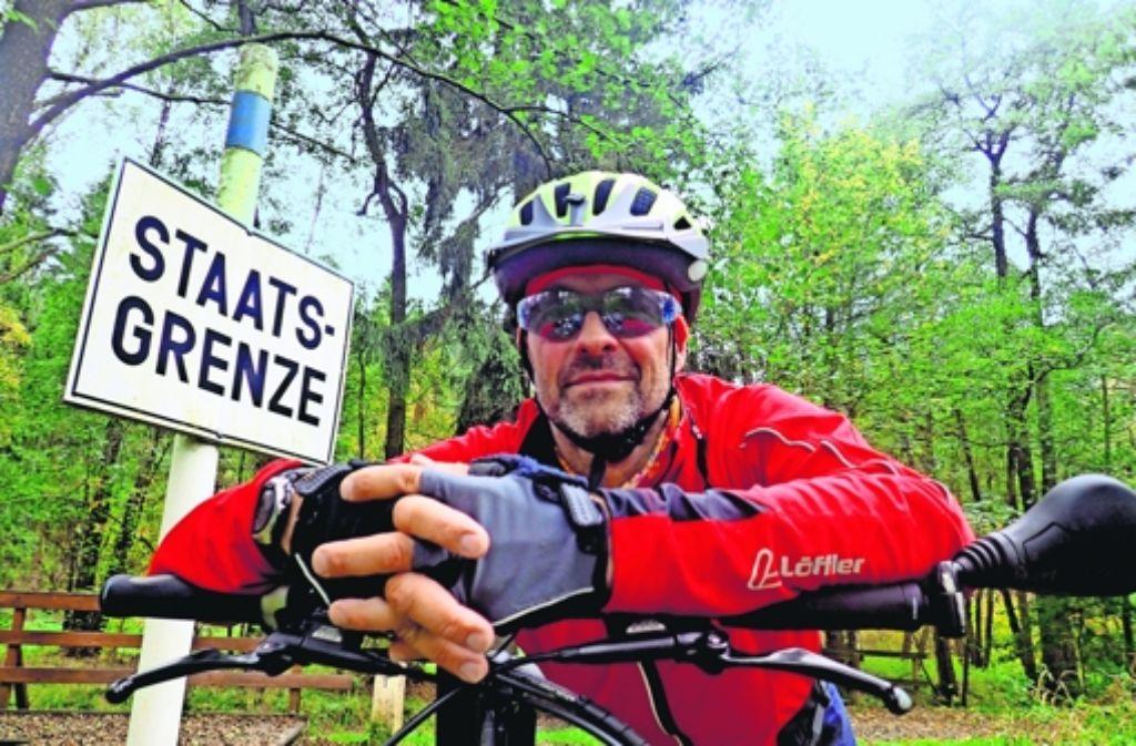 Martin Tschepe fuhr die innerdeutsche Grenze entlang – mit dem Lastenfahrrad. Foto: StZ