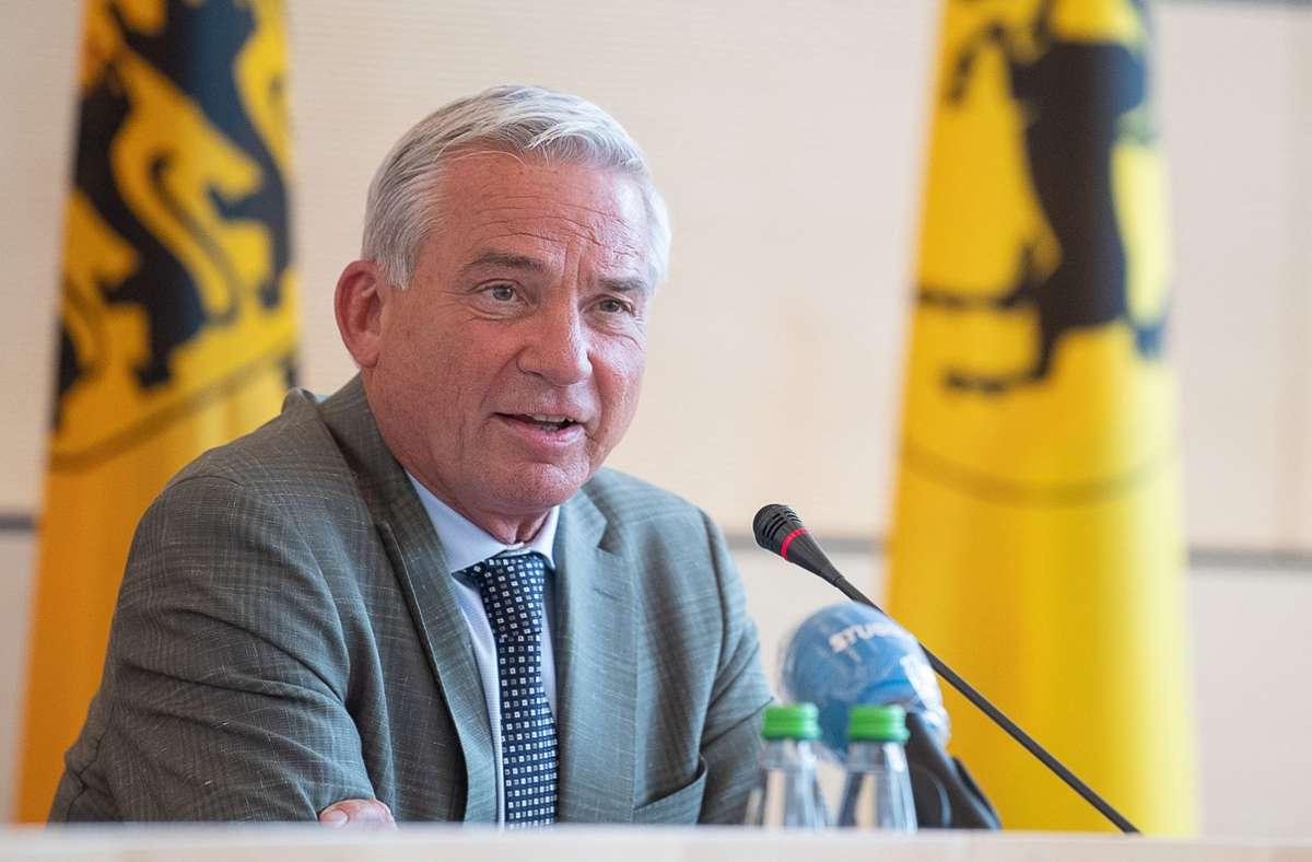 """Innenminister Thomas Strobl: """"Gewalt endet nicht an der Wohnungstür"""" Foto: dpa/Sebastian Gollnow"""