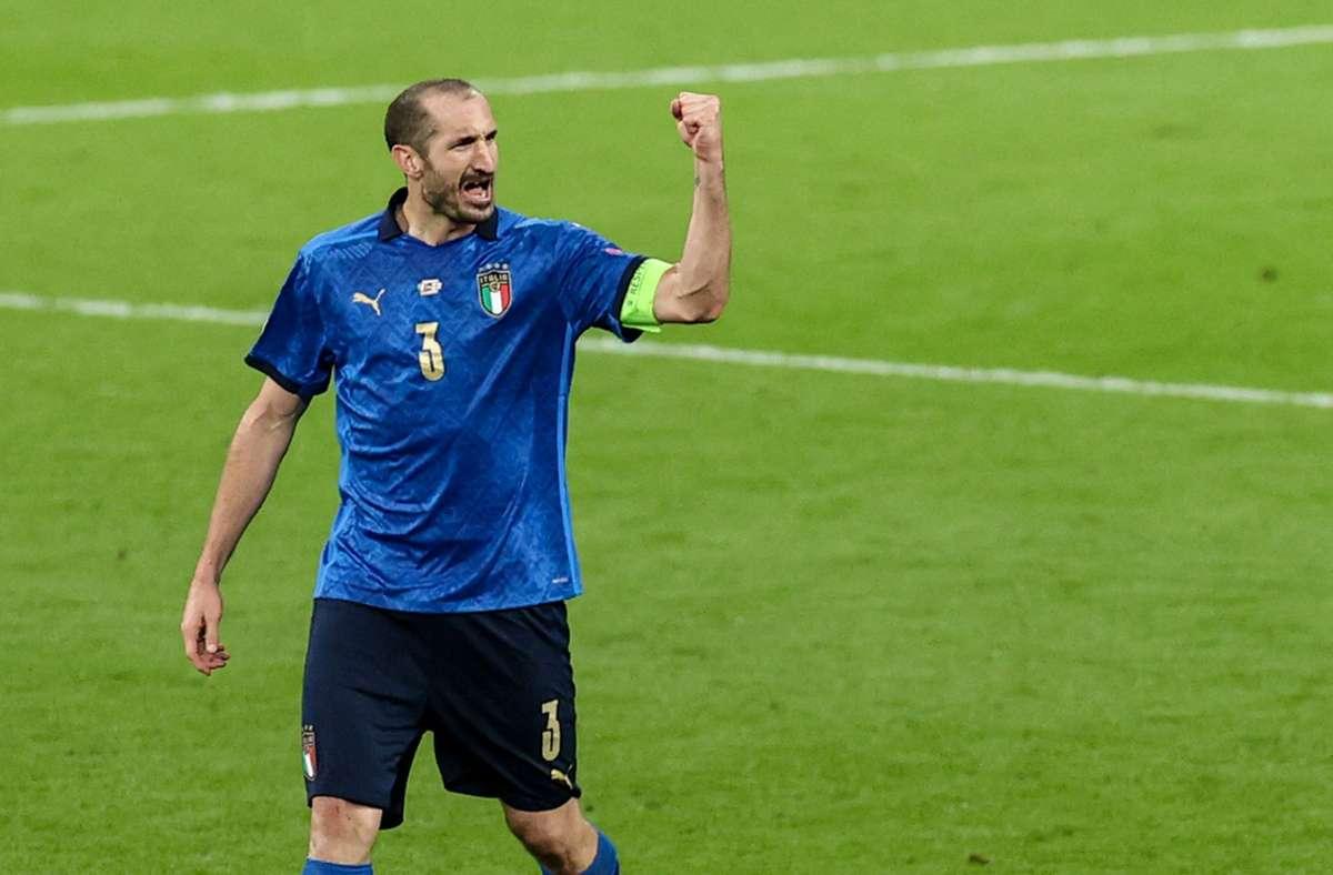 Italiens Verteidiger Chiellini wird zum inoffiziellen EM-Helden. Foto: imago images/PA Images