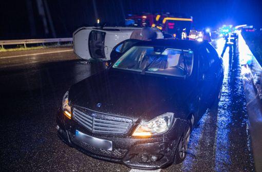 Schwerer Unfall mit Gefahrguttransporter auf der A8