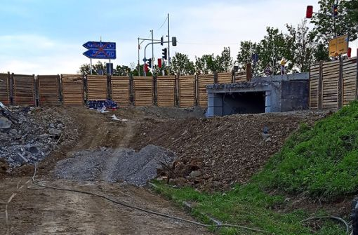 Baustelle an der Nord-Süd-Straße wirft Fragen auf