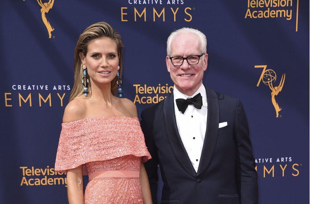 Heidi Klum und Tim Gunn werden die neue Reality-Show gemeinsam moderieren. Foto: Invision via AP