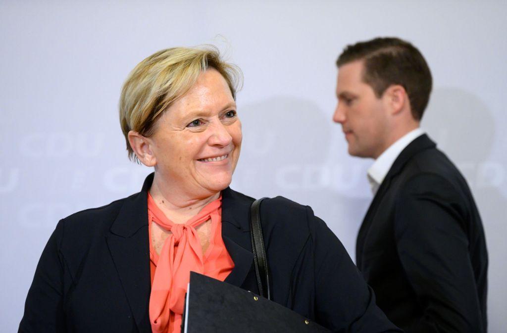 Mehr Diskussion, weniger Vortrag: Susanne Eisenmann hat eine klare Idee vom CDU-Wahlkampf. Foto: dpa/Sebastian Gollnow