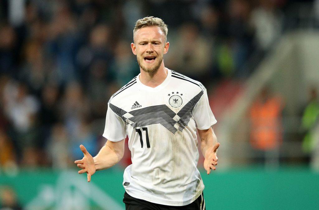 Cedric Teuchert wird wohl nicht gegen den VfB Stuttgart spielen. Foto: Bongarts/Getty Images