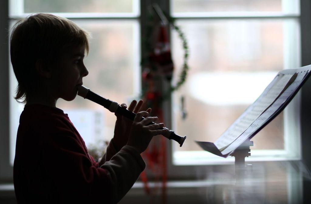 An der Musikschule gibt es noch freie Plätze, etwa für Kinder, die Blockflöte lernen möchten. Foto: dpa/Jens Büttner