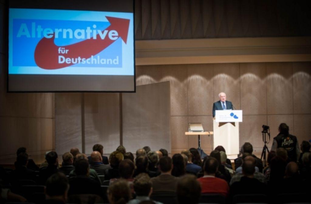 Vaclav Klaus spricht in der Stuttgarter Liederhalle. Foto: Lichtgut/Achim Zweygarth