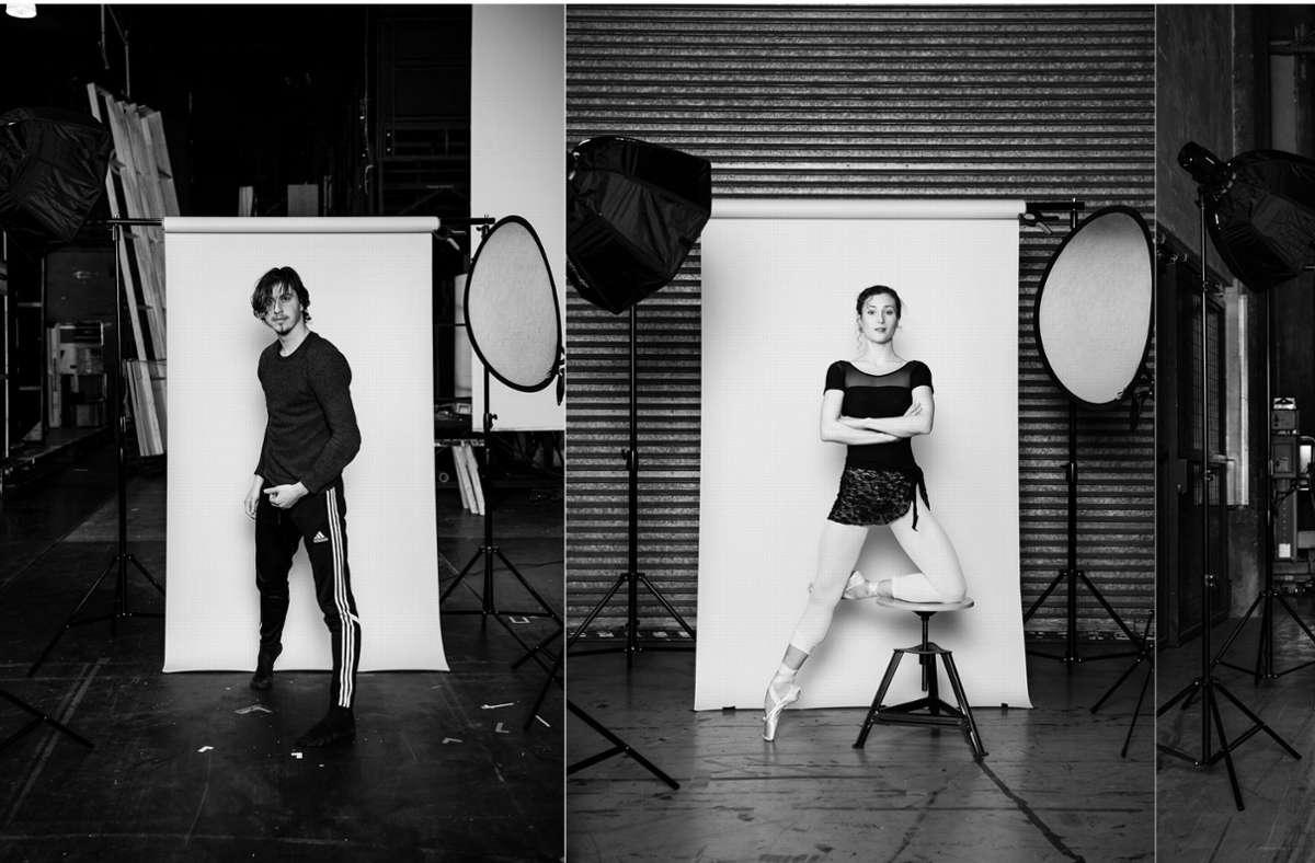 Timor Afshar und  Jessica Fyfe sind zwei der sieben Choreografen, die in Stuttgart die Plattform des Noverre-Abends nutzen, um neue Ballette zu zeigen. Das Publikum kann nicht nur in Stuttgart online dabeisein. Unsere Bildergalerie listet Streamingtipps auf. Foto: SB/Roman Novitzky