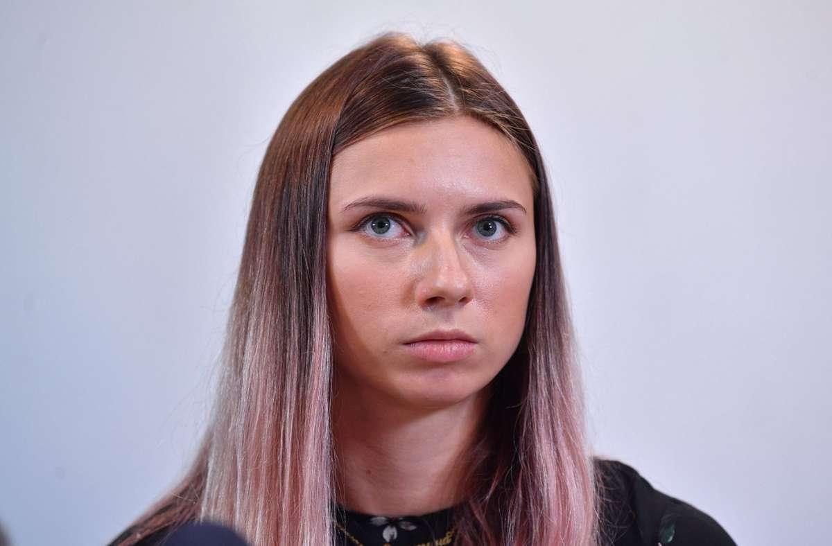 Kristina Timanowskaja ist mittlerweile in Polen. Foto: dpa/Radek Pietruszka
