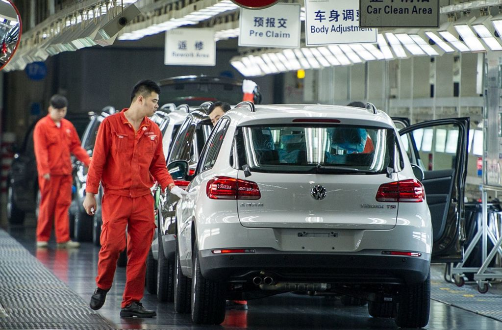 VW-Produktion in Shanghai Foto: dpa