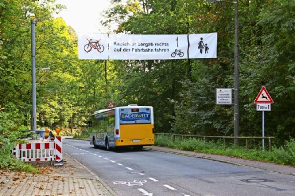 Die Busfahrer haben den Radfahrbeauftragten auf das Problem mit den Geisterfahrern im Elsental aufmerksam gemacht. Foto: Alexandra Kratz