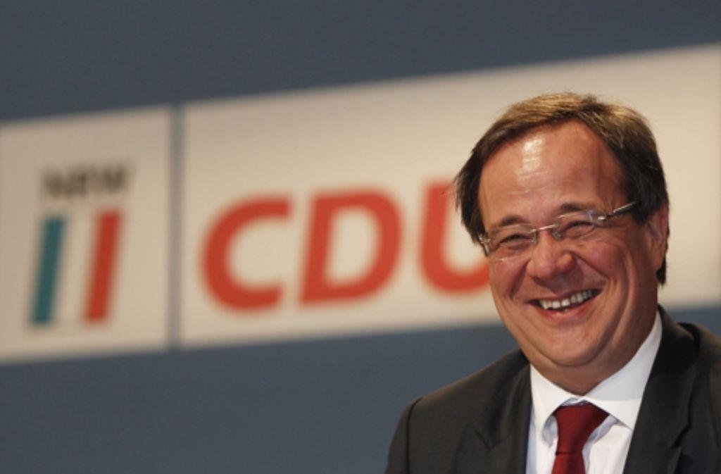 Armin  Laschet,  neuer CDU-Chef  in Düsseldorf,  lächelt alle Sorgen weg. Foto: dapd