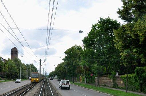 Nur eine Spur auf Heilbronner Straße