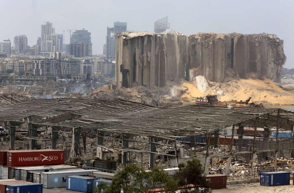 Große Teile der Stadt wurden bei der Explosion zerstört. Foto: imago images/ZUMA Wire/Marwan Bou Haidar