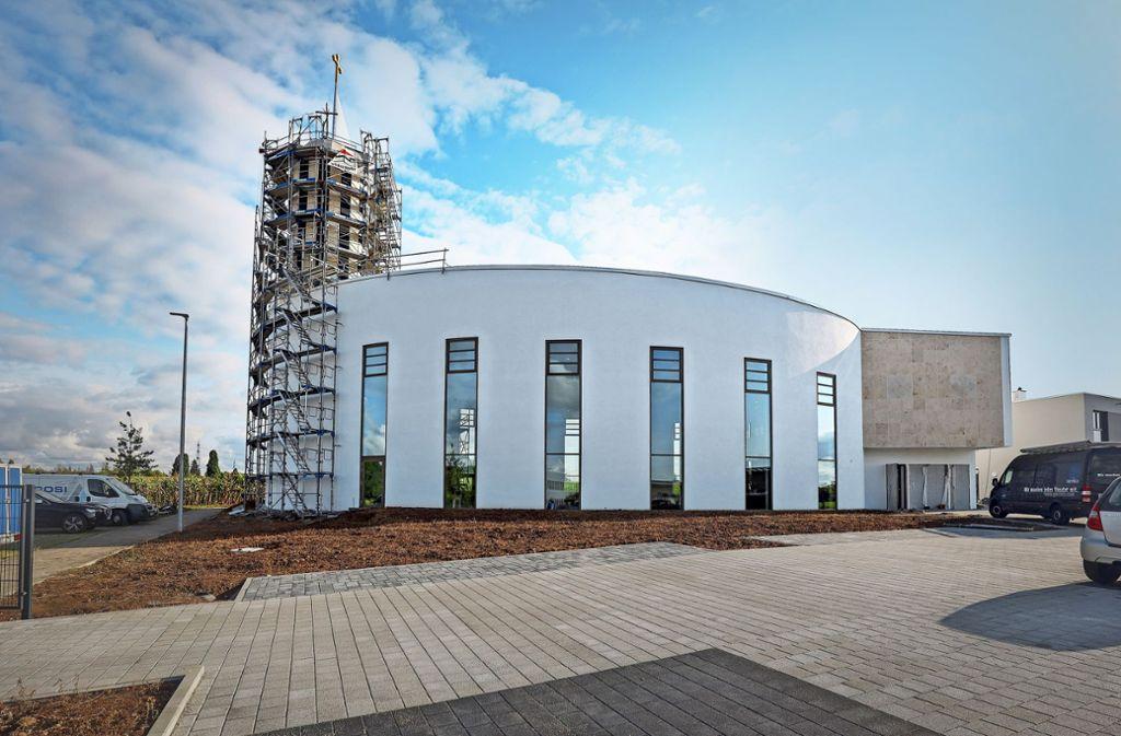 Die neue Kirche mitsamt dem Gemeindehaus wird rund 600 Besuchern Platz bieten. Foto: factum/Simon Granville