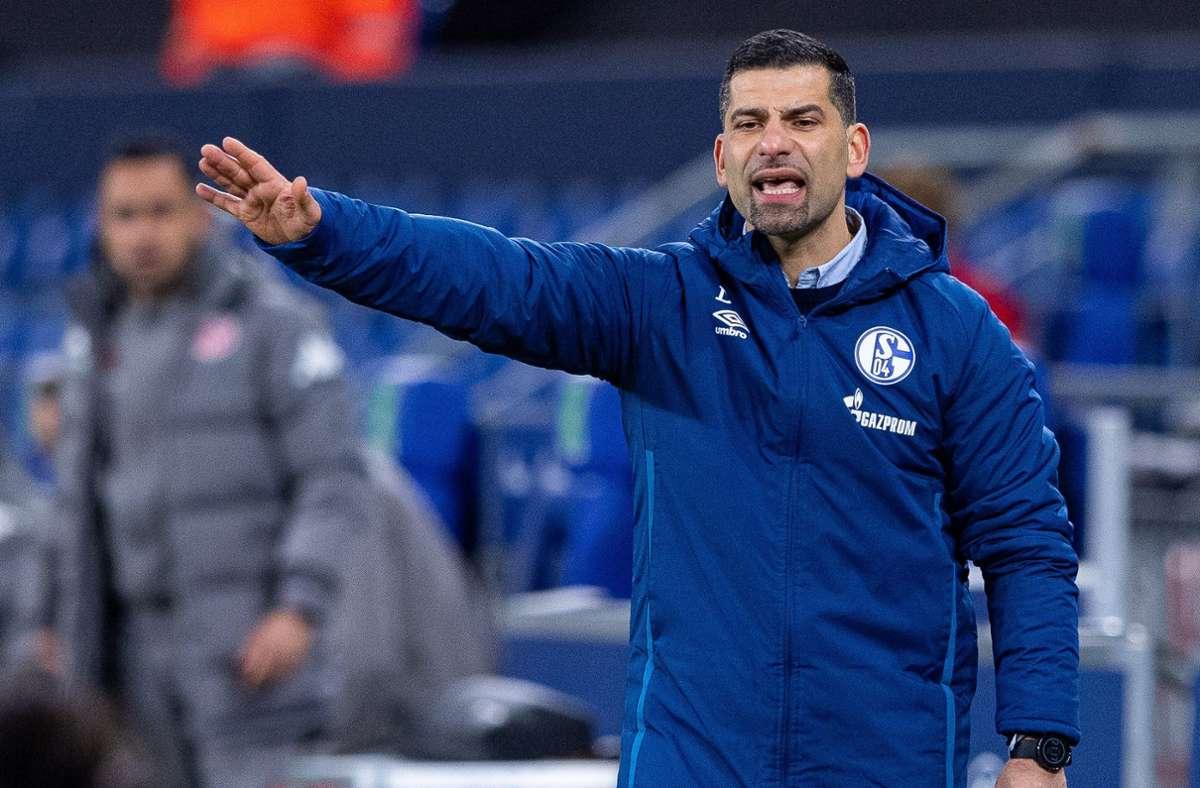 Dimitrios Grammozis sah ein schwaches Spiel zwischen Schalke 04 und Mainz 05. Foto: dpa/Guido Kirchner