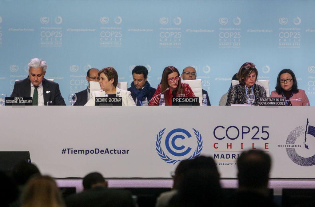 Bei der Weltklimakonferenz konnte nach einer deutlichen Verlängerung eine Abschlusserklärung vereinbart werden. Foto: dpa/Ricardo Rubio
