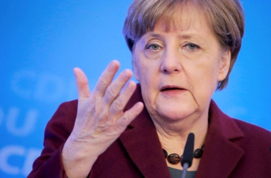 """Kanzlerin Merkel will auf die Vorfälle in Köln """"entschieden"""" antworten. Foto: dpa"""