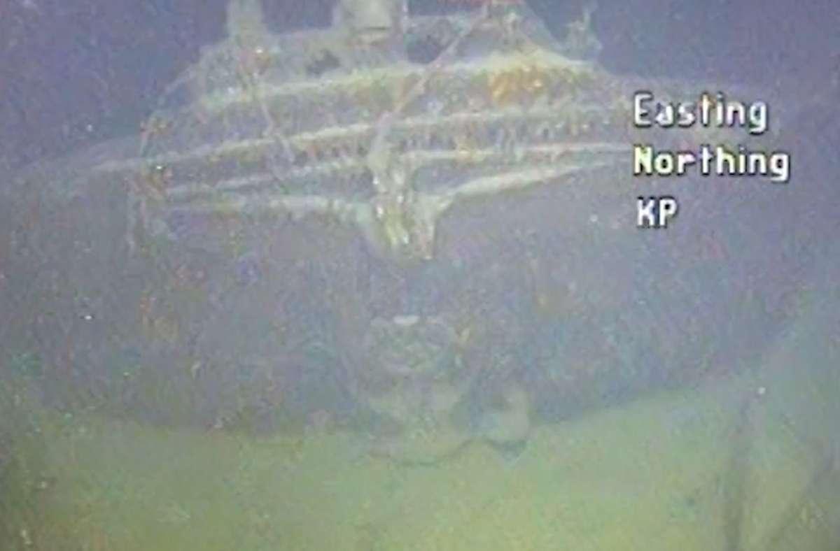 """Das Kriegsschiff """"Karlsruhe"""" wurde nach 80 Jahren entdeckt. Foto: dpa"""