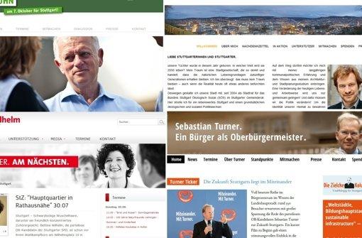 Der OB-Wahlkampfberater Dirk Leibfried hat die Online-Auftritte der von den im Gemeinderat vertretenen Parteien und Fraktionen unterstützten OB-Kandidaten analysiert (Stand: Ende Juli) Foto: Screenshot