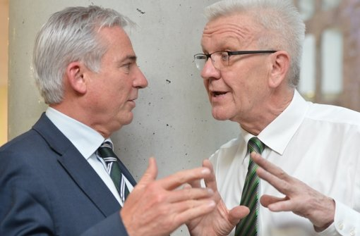 Am Freitag sollen die Koalitionsverhandlungen zwischen Grünen und CDU starten, den Weg in diese Verhandlungen haben Thomas Strobl (CDU) und Winfried Kretschmann (Grüne) geebnet. Foto: dpa