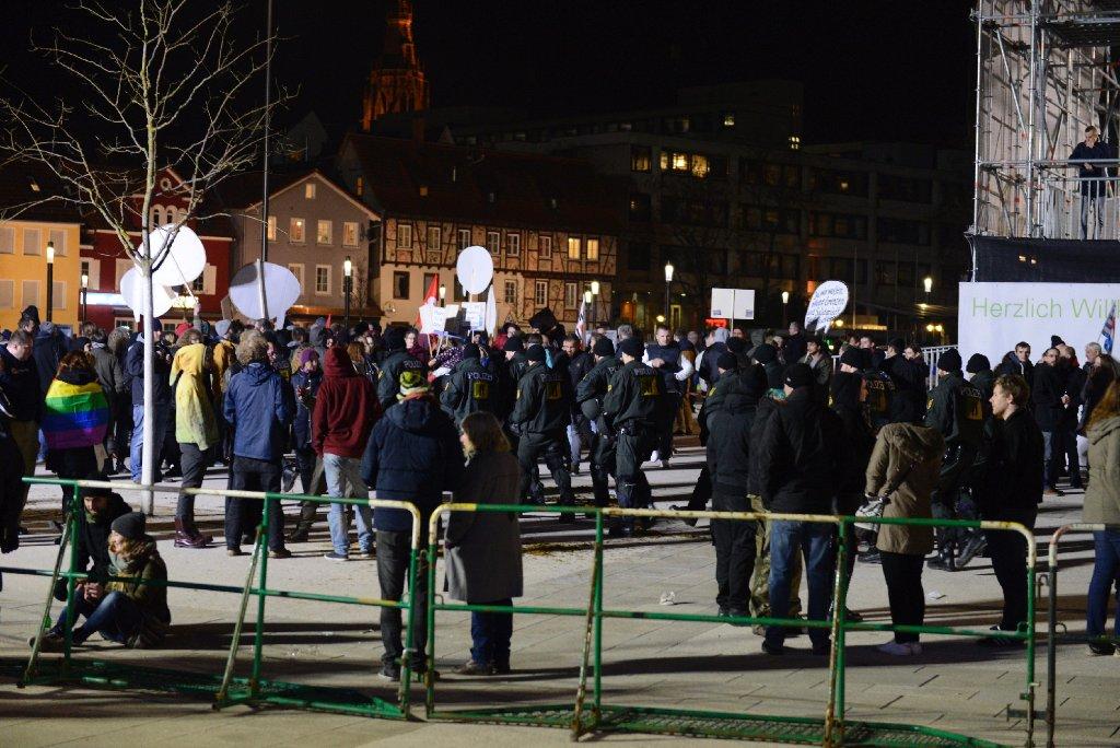 Bei einer AfD-Wahlkampfveranstaltung in Reutlingen ist es zu Tumulten gekommen. Foto: www.7aktuell.de  
