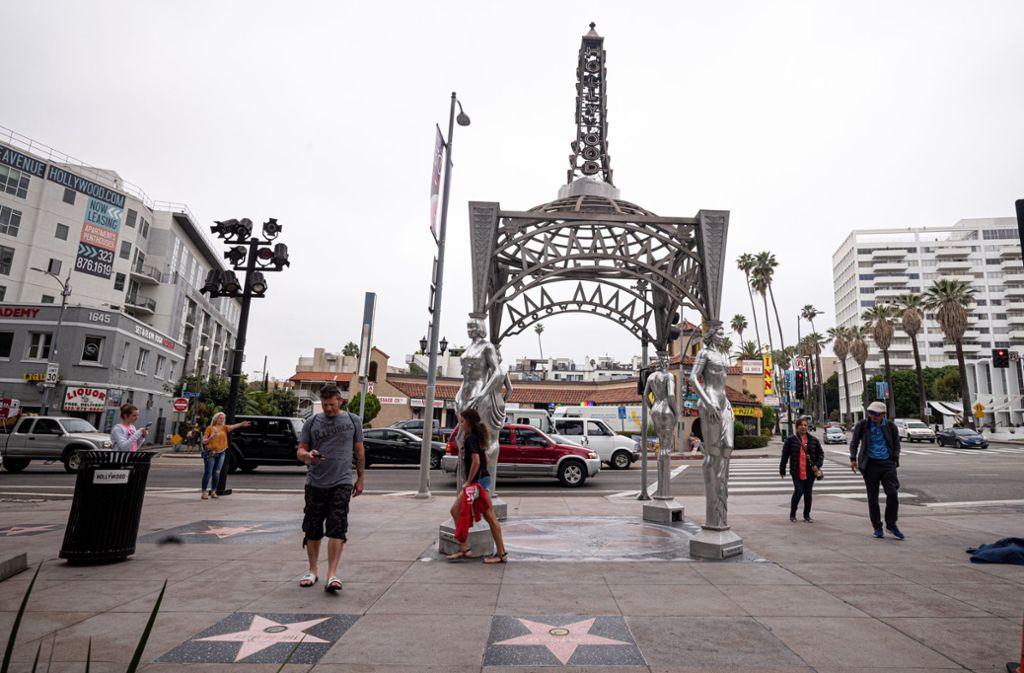 Hier stand bis vor Kurzem noch die Statue von Marilyn Monroe. Foto: David Crane/SCNG via ZUMA Wir