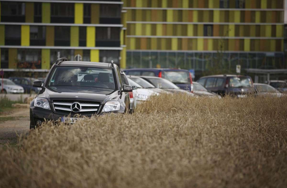 Die Parkplätze am Klinikum in Winnenden sind knapp. Foto: Gottfried Stoppel