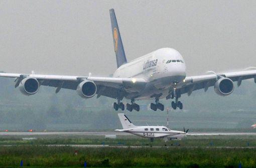 Der A380 war ein sehr seltener Besucher