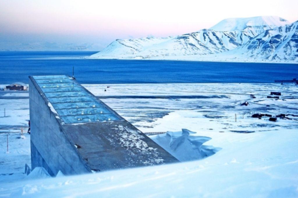 Der Eingang zur Saatgutbank auf Spitzbergen Foto: Scanpix Norway