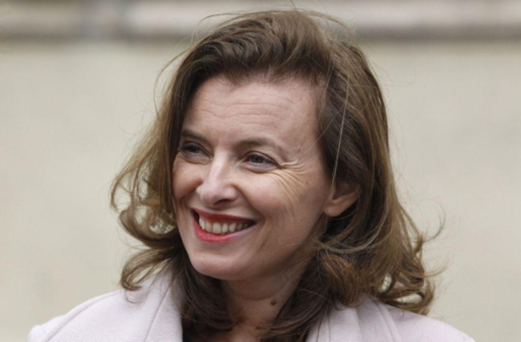 Offensichtlich hat sie die Gerüchte um ihren Mann körperlich nicht gut verkraftet: Valérie Trierweiler. Foto: dpa
