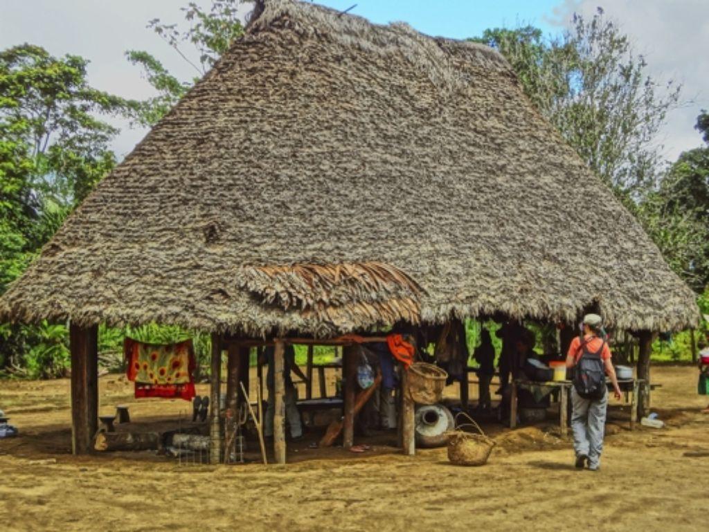 Die Häuser in Checherta im Amazonasbecken haben keine Wände, Mikroorganismen kommen also hervorragend ins Innere. Foto: H. Cavallin