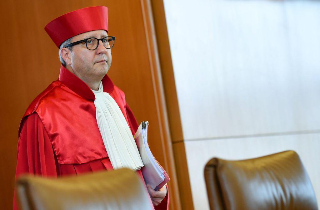 Der Präsident des Zweiten Senats des Bundesverfassungsgerichts, Andreas Voßkuhle Foto: dpa