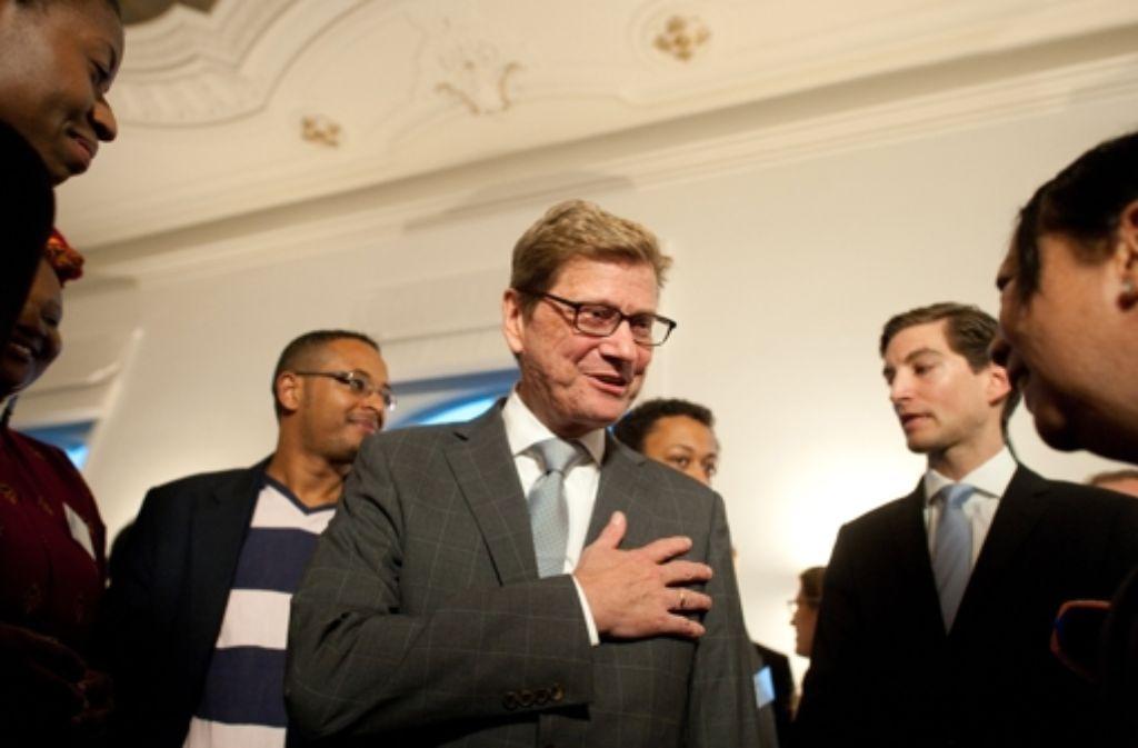 """Guido Westerwelle nahm am Donnerstag in Berlin an einem Empfang seiner """"Westerwelle Foundation"""" teil. Foto: dpa"""