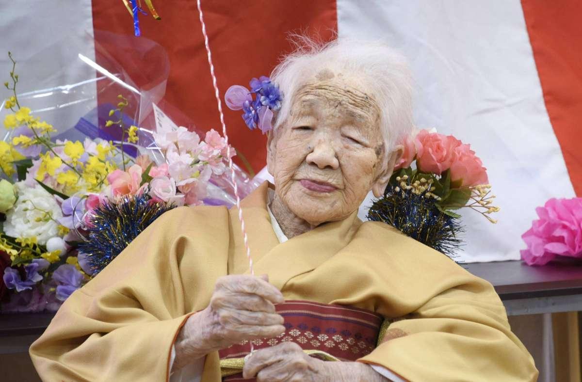Kane Tanaka ist die älteste Frau der Welt und meldet sich auch auf Twitter. Foto: imago/Kyodo News