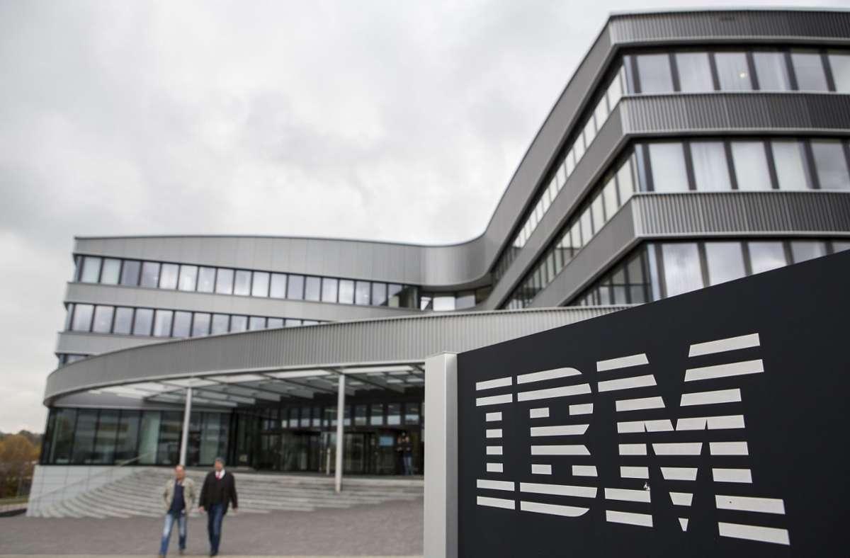 Bei IBM sind die Umsätze im Sinkflug. (Archivbild) Foto: dpa/Silas Stein