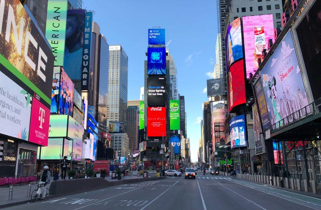 In New York zeigt sich ein ungewohntes Bild dieser Tage. Foto: dpa/Benno Schwinghammer