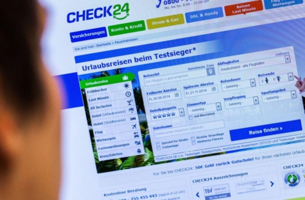 Das Vergleichsportal Check24 wird vom Landgericht München unter die Lupe genommen. Foto: dpa