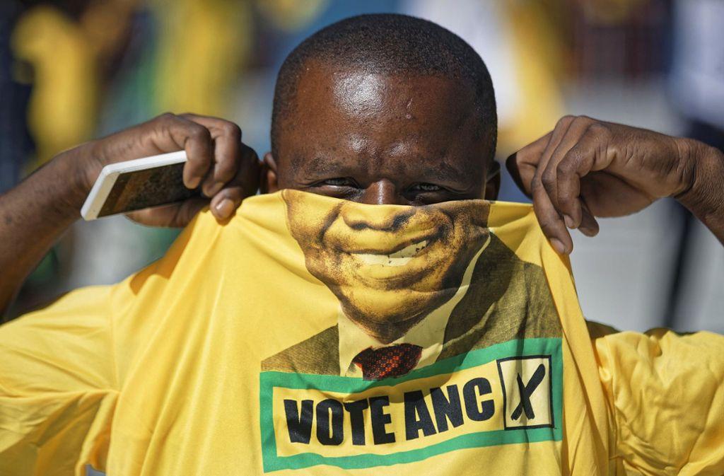 ANC-Chef Cyril Ramaphosa kündigt eine radikale Reinigungskur  an. Foto: dpa