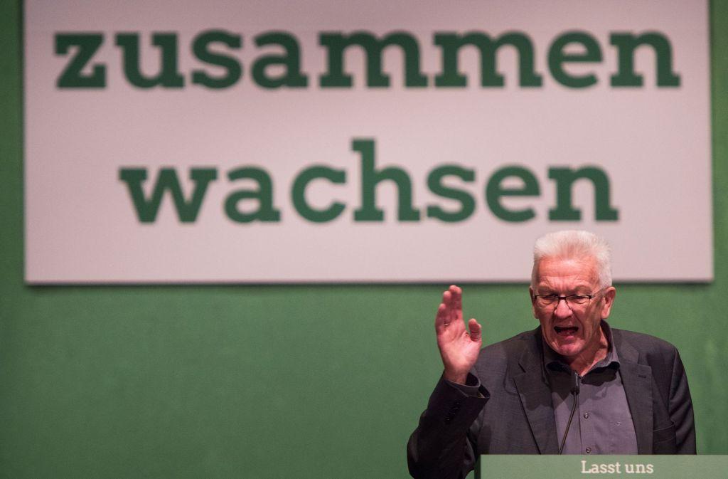 Mit einer Kampfansage an Rechtspopulisten hat Ministerpräsident Winfried Kretschmann (Grüne) seine Partei auf die Bundestagswahl im kommenden Jahr eingestimmt. Foto: dpa