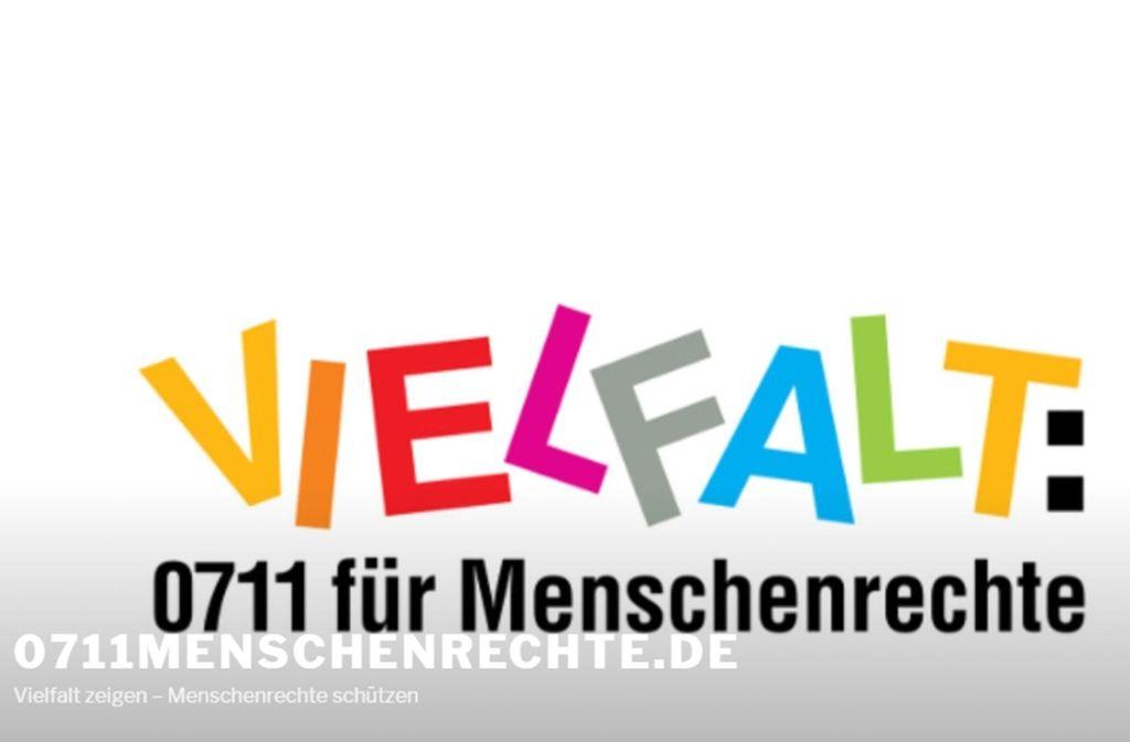 Das Bündnis für Menschenrechte, das mit diesem Logo wirbt, hat großen Zulauf. Die CDU wahrt aber Distanz. Foto: STZN